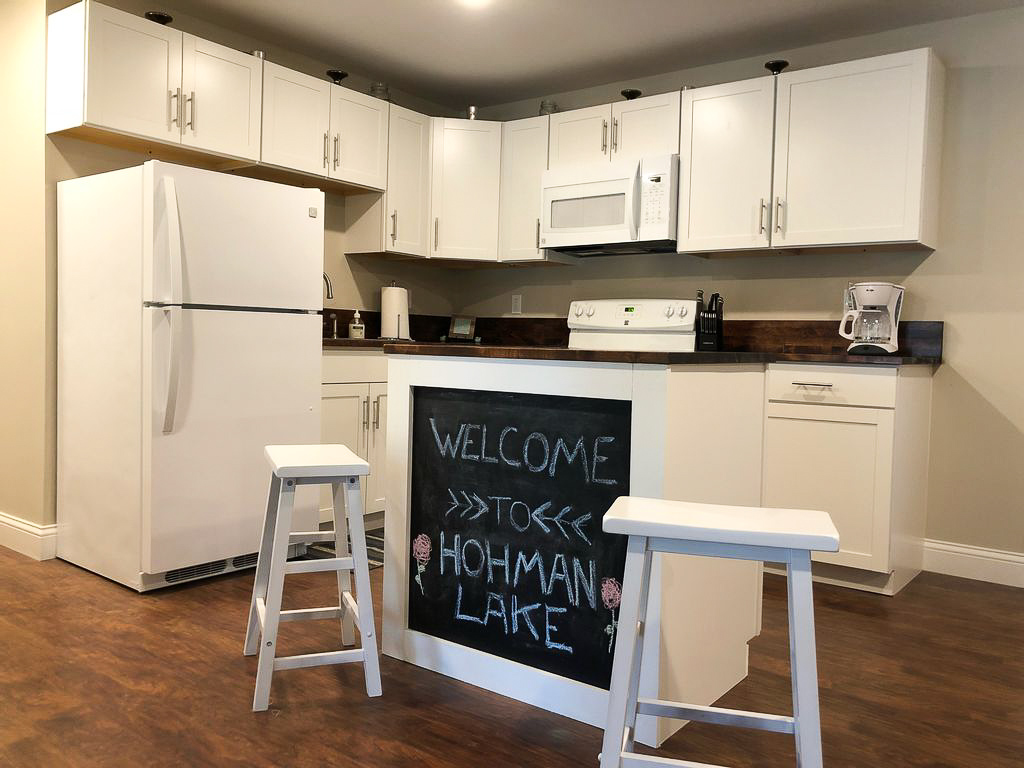Welcome to Hohman Lake! | View of the Kitchen in Cabin #1 | Hohman Lake Rentals