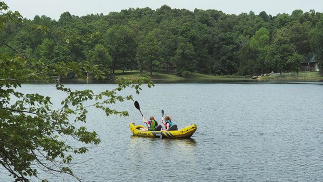 Kayaking on Private Lake | Hohman Lake Rentals | Cabin Rentals near St. Louis