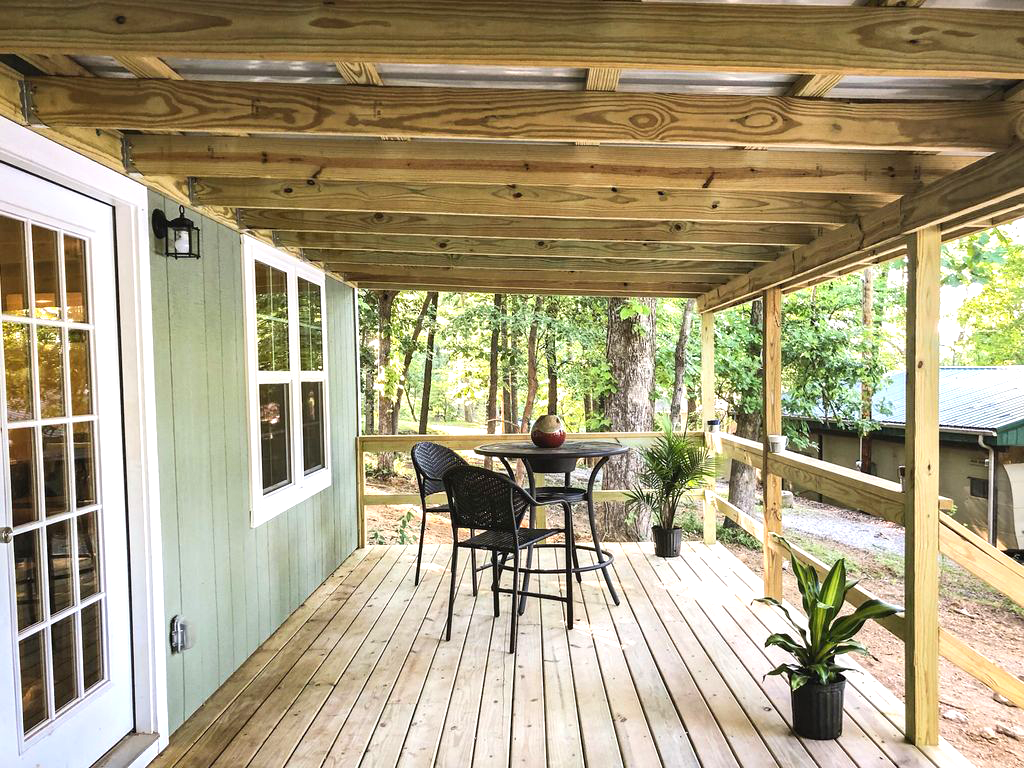View of the Porch | Hohman Lake Rentals